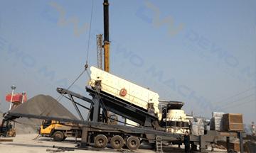 Novosibirsk 150tph diabase mobile crushing production line