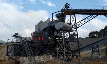 Russia 100tph diabase crushing production line