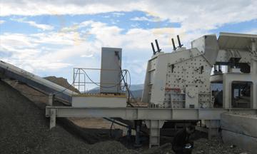 Russia 250-300tph coal gangue mobile crushing production line